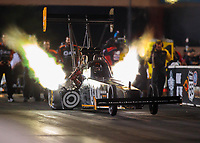 May 31, 2019; Joliet, IL, USA; NHRA top fuel driver Lex Joon during qualifying for the Route 66 Nationals at Route 66 Raceway. Mandatory Credit: Mark J. Rebilas-USA TODAY Sports