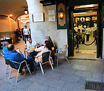 Chocolateria San Gines famous chocolate drink and churros cafe, Madrid city centre, Spain opened 1894