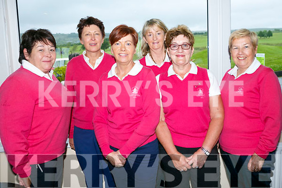 At the Ladies Golf Challenge, Intermediate and Junior cups at Castleisland Golf Club on Sunday were Killorglin Golf Club's Mary Garvey, Eileen Devane, Ann Kenny Foley, Catherine Mitchell, Phil Ann Foley and Catherine Kerins