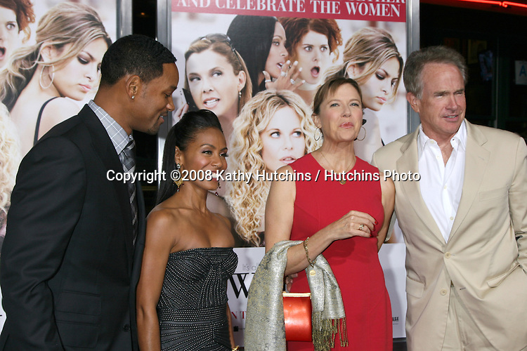 "Will Smith, Jada Pinkett Smith, Annette Bening & Warren Beatty  arriving at the premiere of ""The Women"" at Mann's Village Theater in Westwood,CA on.September 4, 2008.©2008 Kathy Hutchins / Hutchins Photo...."