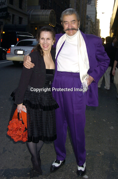 Lynn Quayle and Leroy Neiman ..arriving at the Martha Graham Dance Company Opening Night Gala on April 6, 2005 at New York City Center. ..Photo by Robin Platzer, Twin Images