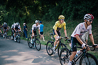 Geraint Thomas (GBR/SKY) rolling by in yellow (all the way to Paris?)<br /> <br /> Stage 18: Trie-sur-Baïse > Pau (172km)<br /> <br /> 105th Tour de France 2018<br /> ©kramon