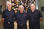 Oliver Flanagan (centre) with Station Officer Peter Leahy and Senior Assistant Fire Officer Joe Lumsden on retiring from the Fire Service in his 40th year in Service...(Photo credit should read Jenny Matthews www.newsfile.ie)....This Picture has been sent you under the conditions enclosed by:.Newsfile Ltd..The Studio,.Millmount Abbey,.Drogheda,.Co Meath..Ireland..Tel: +353(0)41-9871240.Fax: +353(0)41-9871260.GSM: +353(0)86-2500958.email: pictures@newsfile.ie.www.newsfile.ie.
