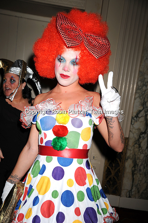 singer Pink as a sad clown..at Bette Midler's New York Restoration Project's 13th Annual Hulaween Gala on October 31, 2008 at The Waldorf Astoria in New York City. ....Robin Platzer, Twin Images