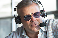 Scott Zolak takes part in the Zolak and Bertrand radio show, a weekly New England sports radio afternoon broadcast on 98.5 The Sports Hub, at the CBS Scene Restaurant and Bar at Patriot Place next to Gillette Stadium in Foxoborough, Mass., USA, on Wed., Jan. 24, 2018. Zolak is a former backup quarterback for the New England Patriots football team and is the Patriots' radio color commentator. Zolak's partner for the show is Marc Bertrand, and they've been broadcasting together for about 3 years. During this broadcast, Zolak and Bertrand talked about their plans to go to the upcoming Super Bowl, ticket prices for the Super Bowl, and had an interview with Boston Celtics Head Coach Brad Stevens.