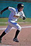 15 April 2009: University of Vermont Catamount infielder Katherine Sisson, a Junior from Underhill, VT, in action against the University at Albany Great Danes at Archie Post Field in Burlington, Vermont. The Great Danes swept the Catamounts 2-0 and 12-0 in the afternoon double-header. Mandatory Photo Credit: Ed Wolfstein Photo