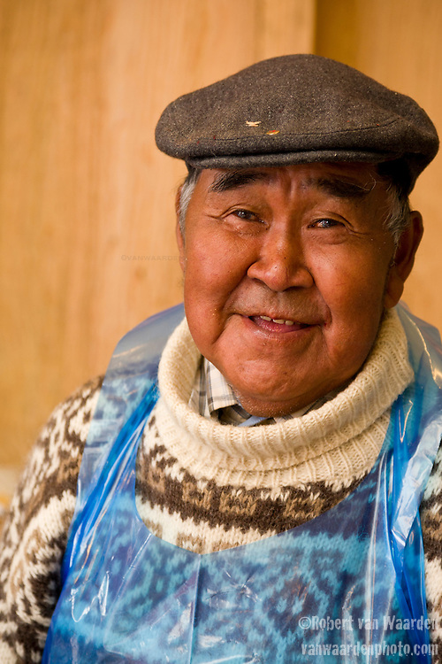 Portrait of a Greenlandic fisherman in Nuuk, Greenland.