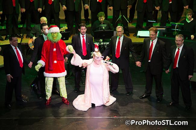 Gateway Men's Chorus in concert at Edison Theatre in St. Louis, MO on Dec 13, 2013.
