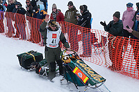 Musher # 41 Jeff King at the Restart of the 2009 Iditarod in Willow Alaska