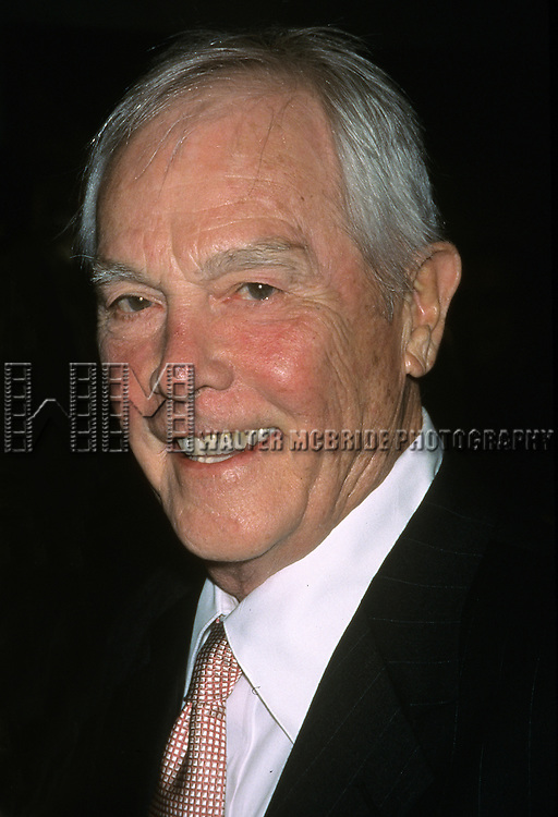"""Harry Connick Sr. pictured at the opening night of """"Thou Shalt Not"""" at Plymouth Theatre in New York City on October 26, 2001."""