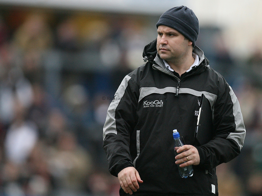 Photo: Rich Eaton...Bristol Rugby v Newcastle Falcons. Guinness Premiership. 18/02/2007. John Fletcher, director of rugby at Newcastle Falcons