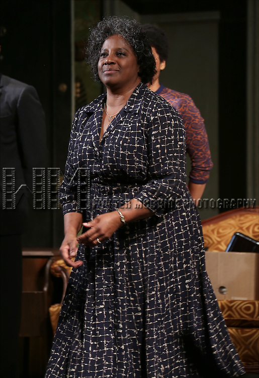 """LaTanya Richardson during the Broadway Opening Night Curtain Call for  """"A Raisin In The Sun""""  at the Barrymore Theatre on April 3, 2014 in New York City."""