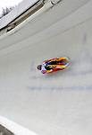 7 February 2009: Bengt Walden slides for the USA in the Men's Competition at the 41st FIL Luge World Championships, in Lake Placid, New York, USA. .  .Mandatory Photo Credit: Ed Wolfstein Photo