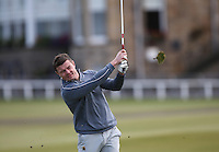 Irish Rugby legend Brian O'Driscoll during the practice round before the 2014 Alfred Dunhill Links Championship, The Old Course, St Andrews, Fife, Scotland. Picture:  David Lloyd / www.golffile.ie