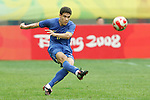 10 August 2008: Hernanes (BRA).  The men's Olympic soccer team of Brazil defeated the men's Olympic soccer team of New Zealand 5-0 at Shenyang Olympic Sports Center Wulihe Stadium in Shenyang, China in a Group C round-robin match in the Men's Olympic Football competition.