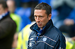 St Johnstone v Inverness Caley Thistle...15.10.11   SPL Week 11.A thoughtful Derek McInnes during what could be his last game as manager of St Johnstone;.Picture by Graeme Hart..Copyright Perthshire Picture Agency.Tel: 01738 623350  Mobile: 07990 594431