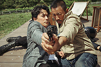 Manhunt (2017) <br /> Masaharu Fukuyama, Hanyu Zhang<br /> *Filmstill - Editorial Use Only*<br /> CAP/KFS<br /> Image supplied by Capital Pictures
