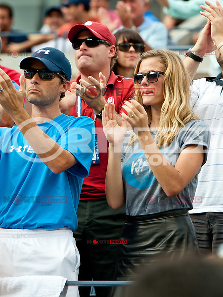 NEW YORK, NY - September 5, 2012: Brooklyn Decker, wife of professional tennis player Andy Roddick (USA), displays emotion during his loss to Juan Martin Del Potro (ARG) during their quarterfinal Men's Singles match on Day 10 of the 2012 U.S. Open Tennis Championships at the USTA Billie Jean King National Tennis Center in Flushing, Queens, New York, USA. © mpi105/MediaPunch Inc. /NortePhoto.com<br /> <br /> **CREDITO*OBLIGATORIO** *No*Venta*A*Terceros*<br /> *No*Sale*So*third* ***No*Se*Permite*Hacer...<br /> more »