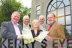 IRISH RURAL DWELLERS ASSOCIATION: ..Jerome Conway (GAA), Brigid O'Connor (IFA), Neil O'Sullivan (IRDA) and pictured at the back were: John Kelly (GAA) and James Doyle (IRDA).