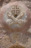 Asie/Israël/Galilée/Saint-Jean-d'Acre: détail médaillon sculpté a la facade de l'église St Jean