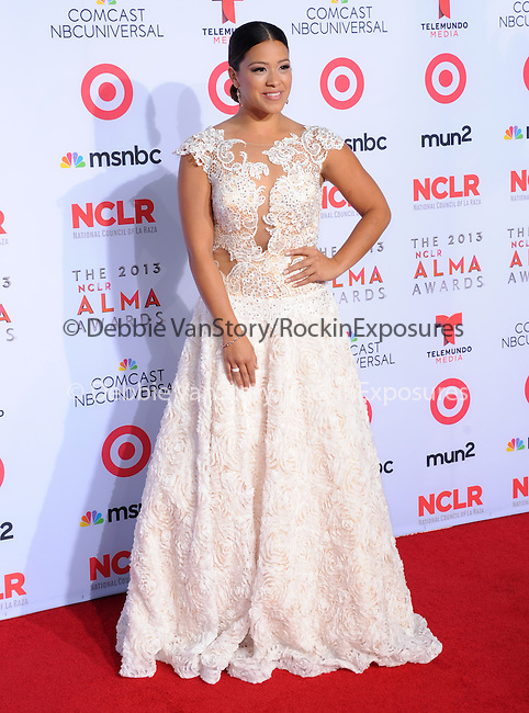 Gina Rodriguez <br /> <br />  attends The 2013 NCLR ALMA Awards held at the Pasadena Civic Auditorium in Pasadena, California on September 27,2012                                                                               © 2013 DVS / Hollywood Press Agency