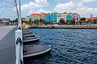 Willemstad, Curacao, Lesser Antilles.  Queen Emma Pontoon Bridge Looking toward Otrobanda.