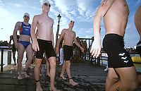 09 NOV 2002 - CANCUN, MEXICO - Thomas Springer (GER) heads for the start of the Junior Mens World Triathlon Championships. (PHOTO (C) NIGEL FARROW)