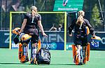 BLOEMENDAAL - Diana Beemster (Bldaal)   tijdens de tweede Play Out wedstrijd hockey dames, Bloemendaal-MOP (5-1)  COPYRIGHT KOEN SUYK