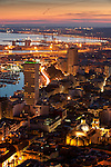 Alicante city from Santa Barbara castle, Alicante city, Spain
