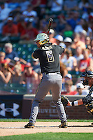 Carter Aldrete (6) of Monterey High School in Monterey, California during the Under Armour All-American Game on August 15, 2015 at Wrigley Field in Chicago, Illinois. (Mike Janes/Four Seam Images)