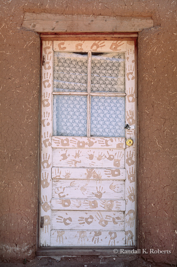 Painted door, Taos Pueblo, New Mexico