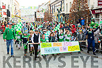 Legion GAA club marching in the Killarney St Patricks Day parade