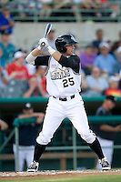 San Antonio Missions third baseman James Darnell #25 at bat during the Texas League All Star Game played on June 29, 2011 at Nelson Wolff Stadium in San Antonio, Texas. The South All Star team defeated the North All Star team 3-2 and Darnell was awarded the MVP award. (Andrew Woolley / Four Seam Images)