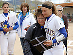 Bailey Henderson at the Sophomore Day celebration after the first game of the Western Nevada College softball doubleheader on Saturday, April 30, 2016 at Pete Livermore Sports Complex. Photo by Shannon Litz/Nevada Photo Source