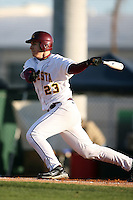 February 20, 2009:  First baseman Nick O'Shea (23) of the University of Minnesota during the Big East-Big Ten Challenge at Jack Russell Stadium in Clearwater, FL.  Photo by:  Mike Janes/Four Seam Images