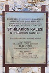 St. Hilarion Castle Sign