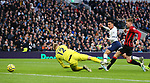 Tottenham's Dele Alli scores the opening goal during the Premier League match at the Tottenham Hotspur Stadium, London. Picture date: 30th November 2019. Picture credit should read: Paul Terry/Sportimage