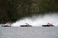 "(L to R): Jared Knelleken, A-9 , Andrew Tate, A-25 ""Fat Chance"" and Leslie ""Poodle"" Warren, A-36 (2.5 MOD class hydroplane(s)"