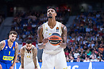 Jordan Mickey during Real Madrid vs Maccabi Fox of Day 2 of Euroleague Basketball. October 10, 2019. (ALTERPHOTOS/Francis Gonzalez)
