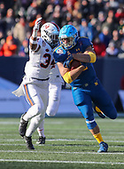 Annapolis, MD - December 28, 2017: Navy Midshipmen fullback Anthony Gargiulo (38) gets tackled during game between Virginia and Navy at  Navy-Marine Corps Memorial Stadium in Annapolis, MD.   (Photo by Elliott Brown/Media Images International)