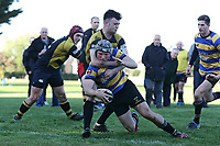 Upminster score their first try during Upminster RFC vs Billericay RFC, Essex Canterbury Jack League Rugby Union at Hall Lane Playing Fields on 3rd November 2018