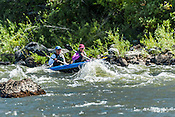 Private Rafters, Kayakers, Canoers, Paddle Boarders & Tubers crashing Cable Rapid while running the Upper Colorado River from Rancho Del Rio to State Bridge on August 24, 2014.