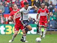Bolton Wanderers' Antonee Robinson and Middlesbrough's Grant Leadbitter <br /> <br /> Photographer Rachel Holborn/CameraSport<br /> <br /> The EFL Sky Bet Championship - Bolton Wanderers v Middlesbrough - Saturday 9th September 2017 - Macron Stadium - Bolton<br /> <br /> World Copyright &copy; 2017 CameraSport. All rights reserved. 43 Linden Ave. Countesthorpe. Leicester. England. LE8 5PG - Tel: +44 (0) 116 277 4147 - admin@camerasport.com - www.camerasport.com