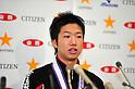 Jun Mizutani, JANUARY 22, 2012 - Table Tennis : Jun Mizutani attends press conference during All Japan Table Tennis Championships Men's Singles at Tokyo Metropolitan Gymnasium, Tokyo, Japan. (Photo by Jun Tsukida/AFLO SPORT) [0003]