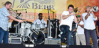 Bonerama plays French Quarter Festival 2011 in New Orleans, LA.