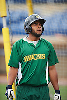 Lynchburg Hillcats catcher Juan De La Cruz (1) during practice before a game against the Wilmington Blue Rocks on June 3, 2016 at Judy Johnson Field at Daniel S. Frawley Stadium in Wilmington, Delaware.  Lynchburg defeated Wilmington 16-11 in ten innings.  (Mike Janes/Four Seam Images)
