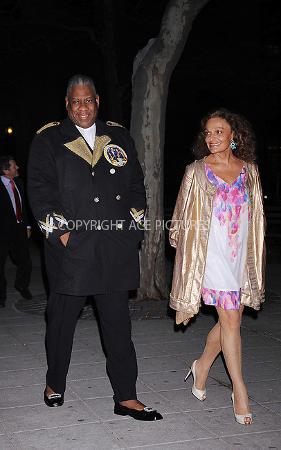 WWW.ACEPIXS.COM . . . . . ....April 21 2009, New York City....(L-R) American editor-at-large for Vogue Andre Leon Talley and designer Diane von Furstenberg arriving at the Vanity Fair party for the 2009 Tribeca Film Festival at the State Supreme Courthouse on April 21, 2009 in New York City.....Please byline: KRISTIN CALLAHAN - ACEPIXS.COM.. . . . . . ..Ace Pictures, Inc:  ..tel: (212) 243 8787 or (646) 769 0430..e-mail: info@acepixs.com..web: http://www.acepixs.com