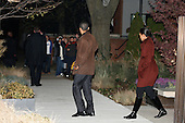 Chicago, IL - November 22, 2008 -- United States President-Elect Barack Obama and his wife Michelle leave the home the home of their friend Penny Pritzker after having dinner there Saturday evening, November 22, 2008..Credit: Anne Ryan - Pool via CNP