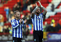 Barry Bannan of Sheffield Wednesday and Steven Fletcher of Sheffield Wednesday thank the fans during Charlton Athletic vs Sheffield Wednesday, Sky Bet EFL Championship Football at The Valley on 30th November 2019