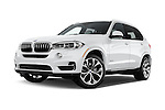 Stock pictures of low aggressive front three quarter view of 2017 BMW X5 xDrive40e 5 Door SUV Low Aggressive